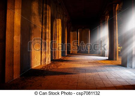 Clip Art of Stone archway in old building csp7081132.