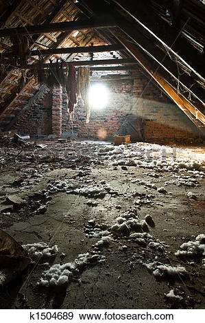 Stock Photograph of Old attic k1504689.