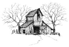 Old barn clipart.