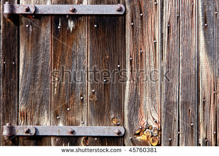 Weathered Old Barn Wood Door Vintage Stock Photo 45760381.