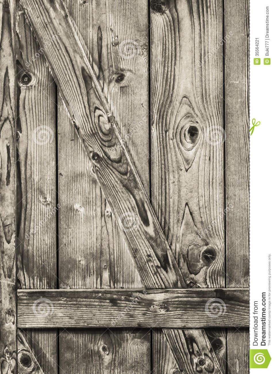 Antique Rustic Pine Wood Barn Door.