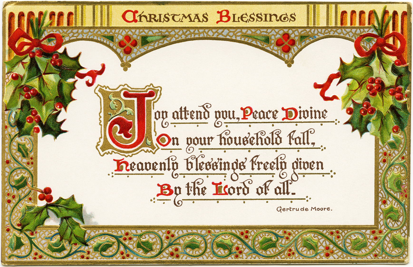 Christmas Blessings Clipart.