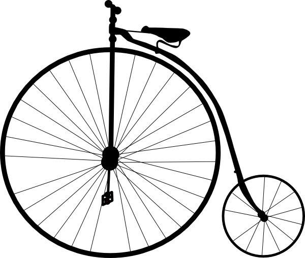 Old school bikes clipart.