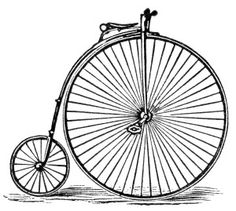 Old fashioned bike clipart.