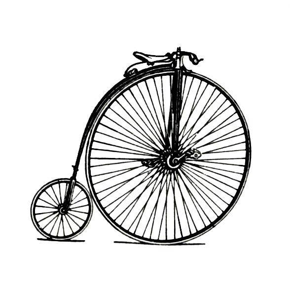 Old Bike Clip Art.