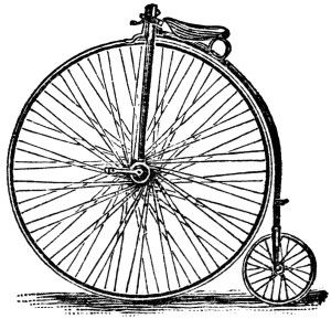 victor cycle magazine ad, free vintage bicycle clipart, black and.