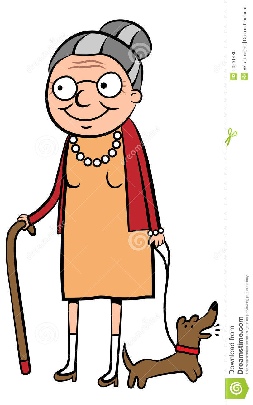 Old Lady Cartoon Clipart.