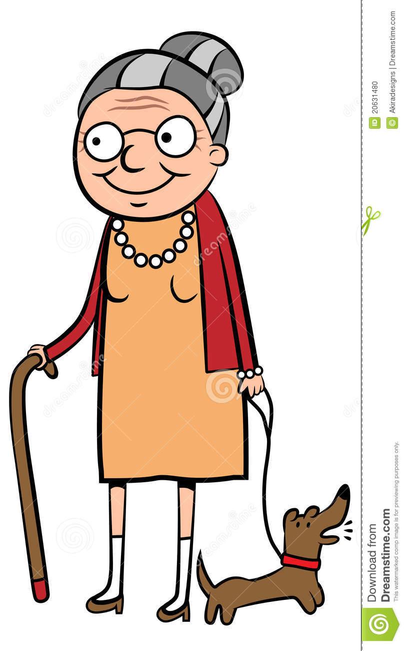 Old Lady Cartoon Clipart.