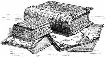 Old Books Clip Art.