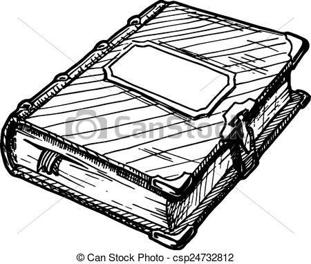 Clip Art Vector of Old book csp11450069.