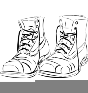 Old Work Boots Clipart.