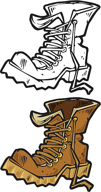 Work Boots Clip Art, Vector Images & Illustrations.