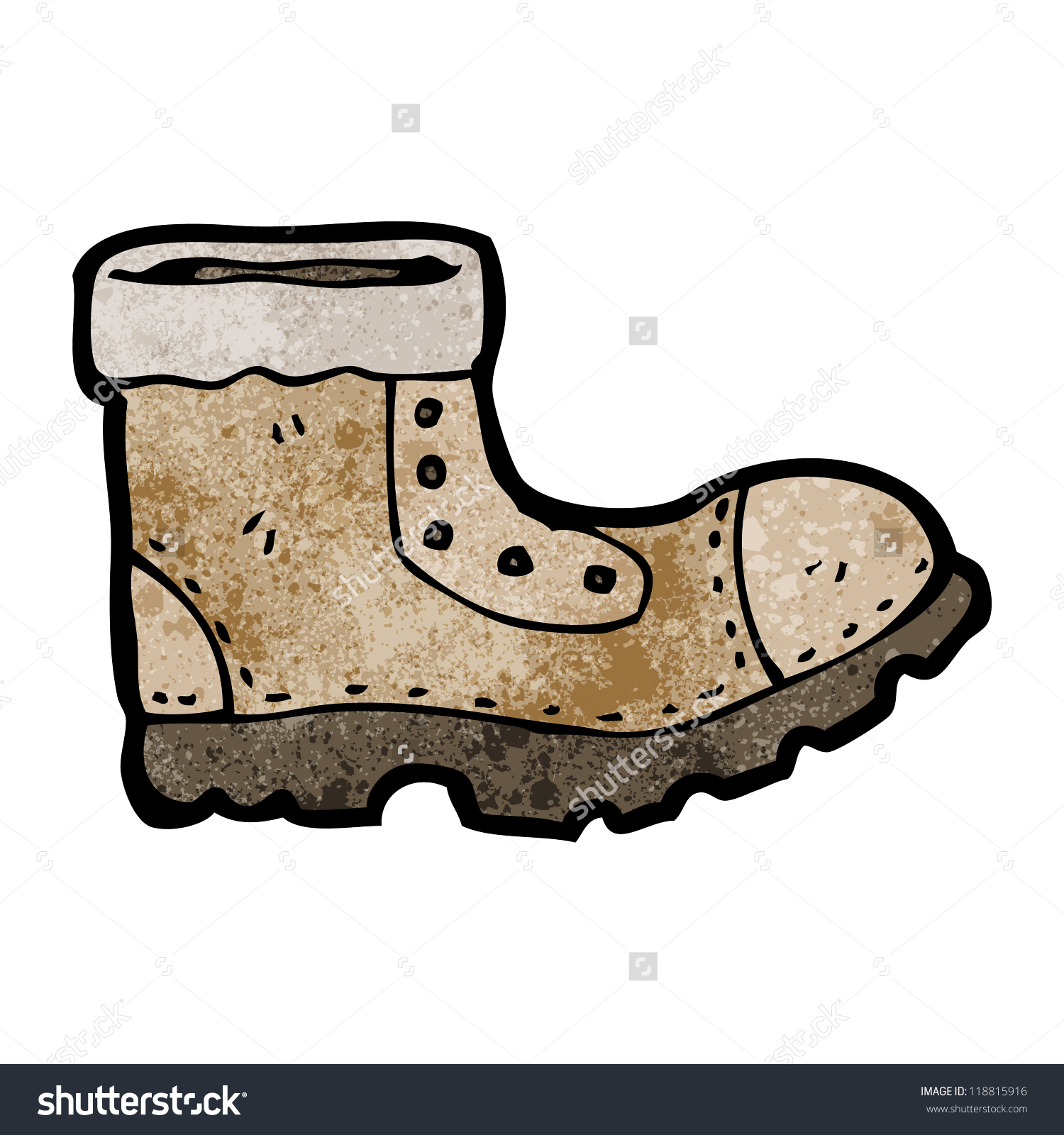 Cartoon Old Walking Boot Stock Vector 118815916.