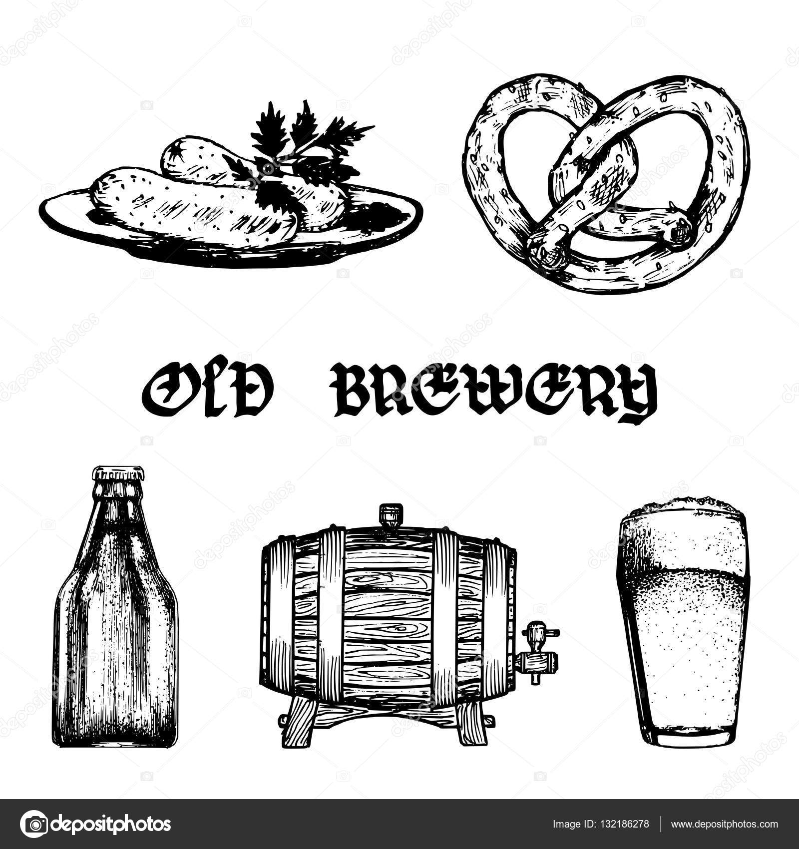 Old brewery banner — Stock Vector © vladayoung #132186278.