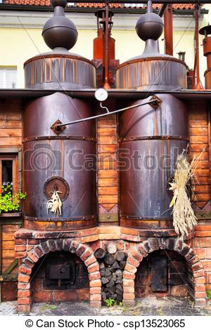 Stock Image of Old brewery.