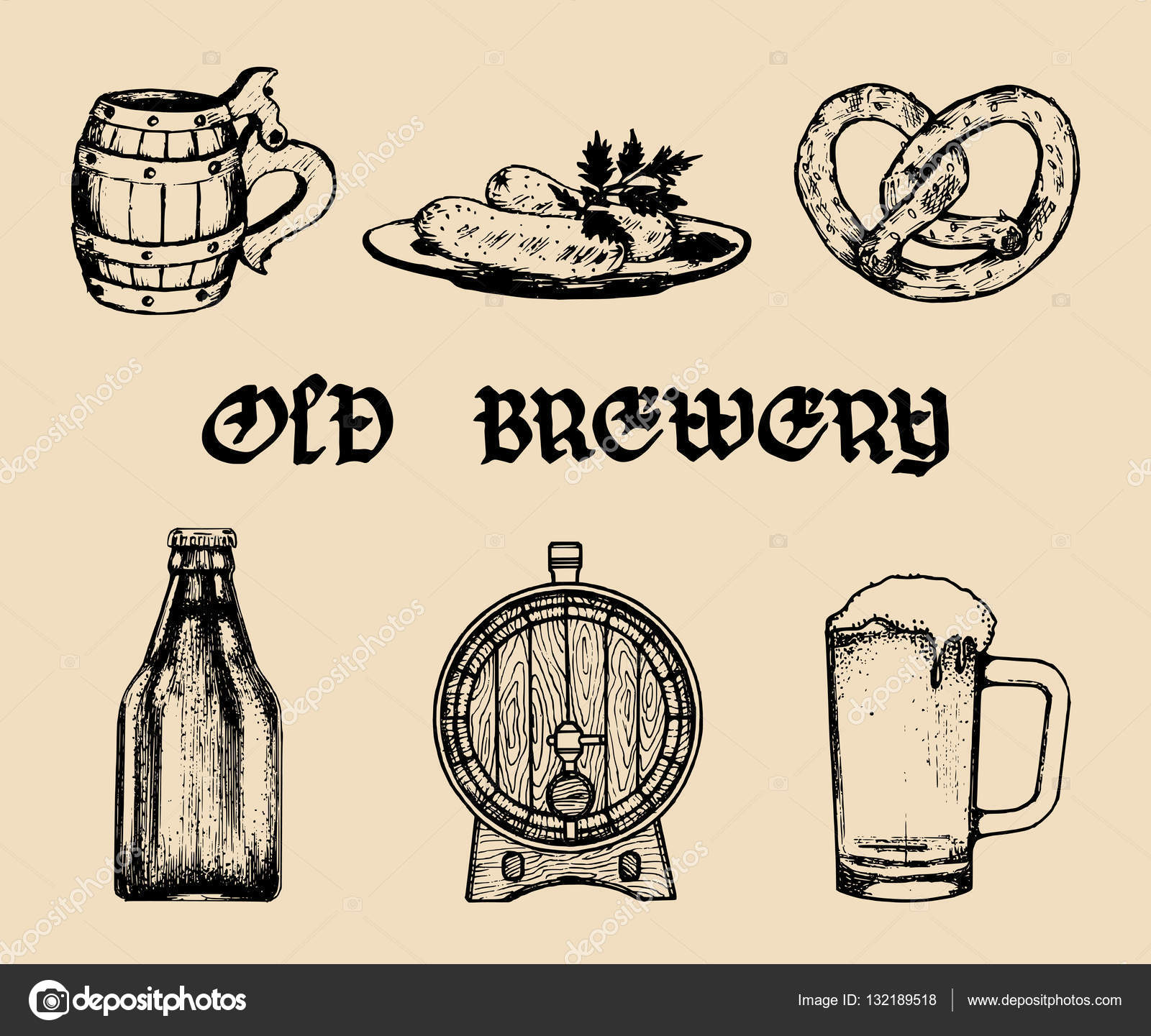 Old brewery banner — Stock Vector © vladayoung #132189518.