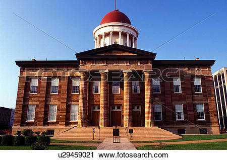 Stock Photography of Old State Capitol, Springfield, IL, Illinois.