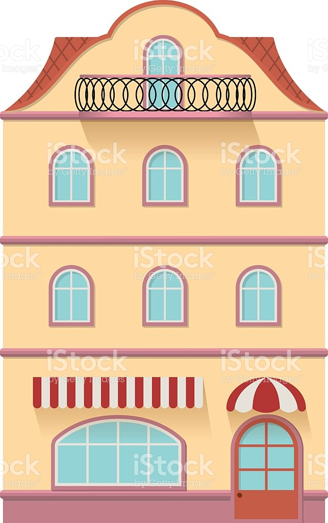 European Old Building stock vector art 635831950.