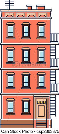 Old buildings clipart #19