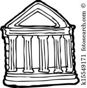 Old buildings clipart #20