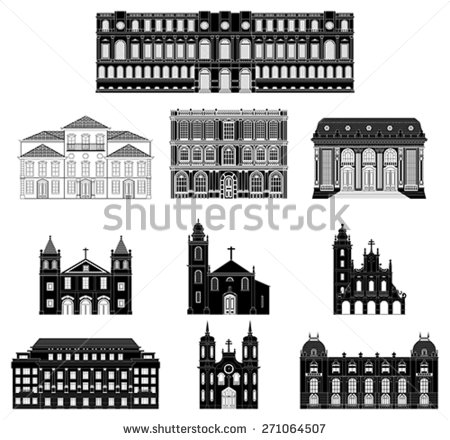 Old buildings clipart #2