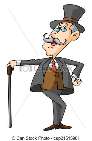Vector Clipart of Old Businessman csp21515901.