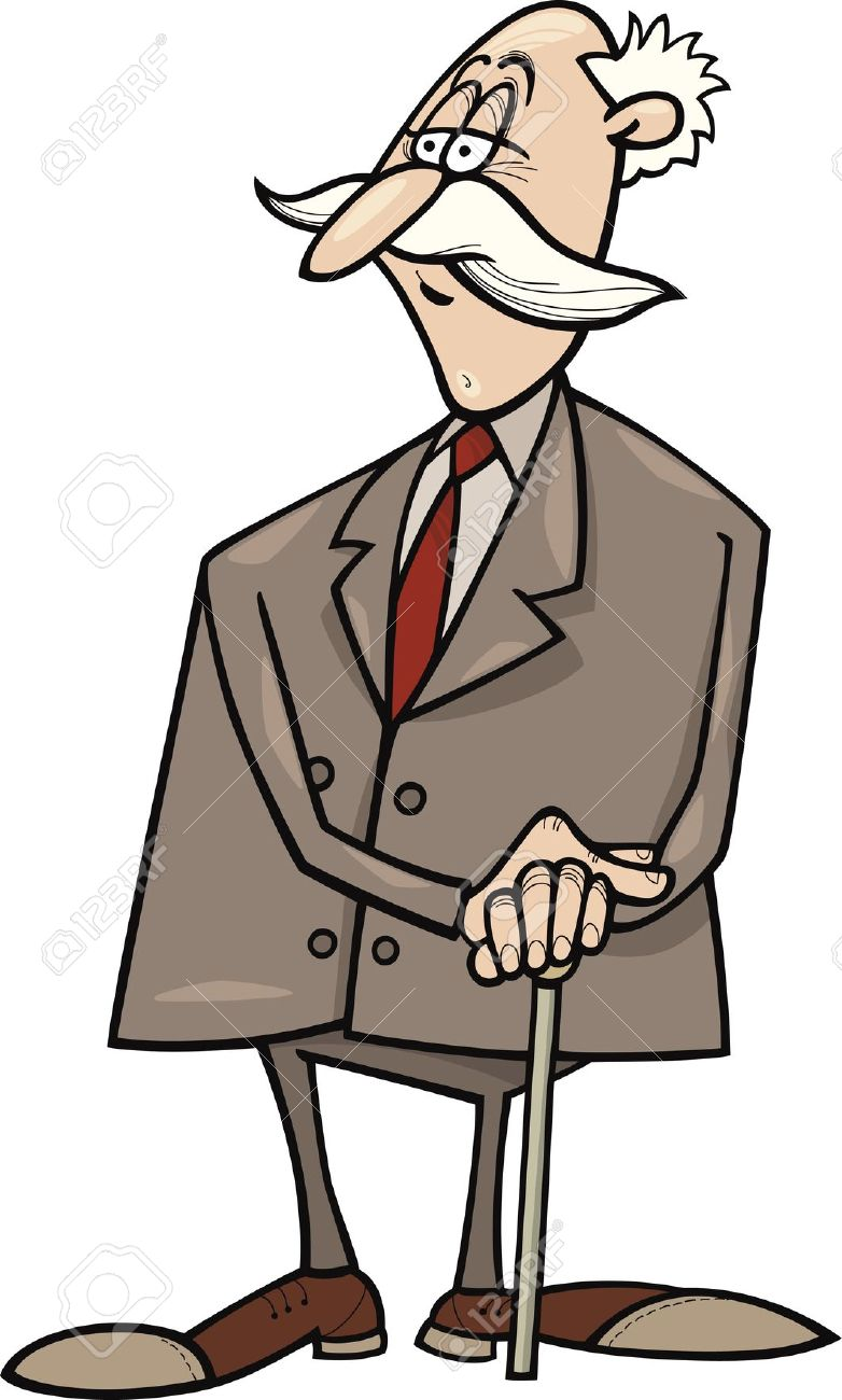 Old businessman clipart.