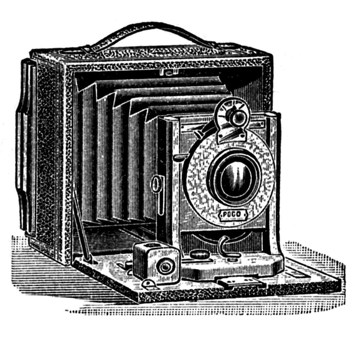 Old Fashioned Camera Clip Art.