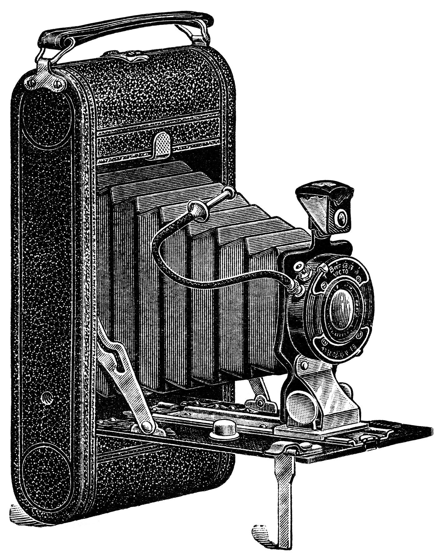 Free Vintage Camera Clipart Image.