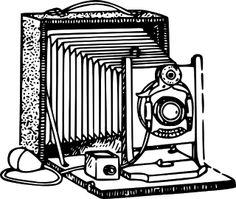 Old Camera Clip Art.