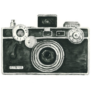 443 Vintage Camera free clipart.