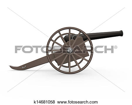 Stock Illustration of Old Cannon Isolated k14681058.