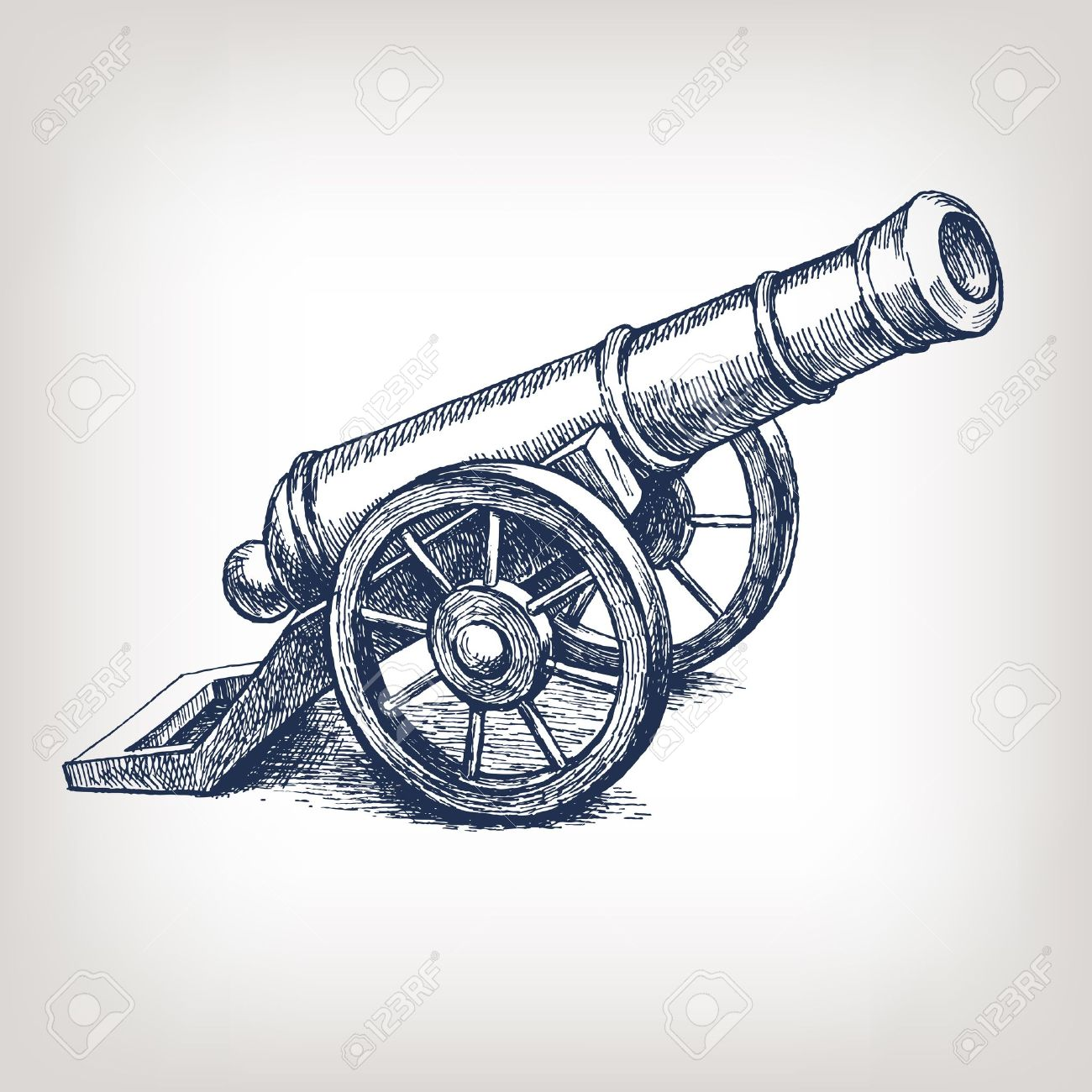 Old cannon clipart.