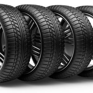 Exclusive Stock Illustration Tire Wheel Vector Black White.