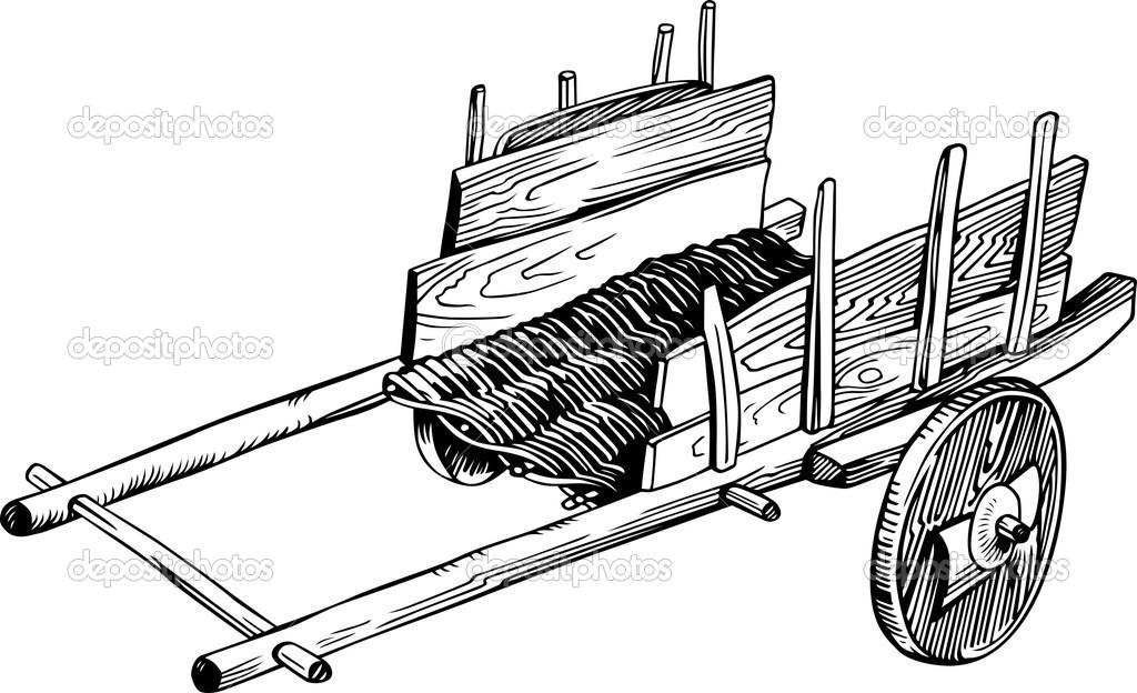 Old cart — Stock Vector © Den.Barbulat #11532546.