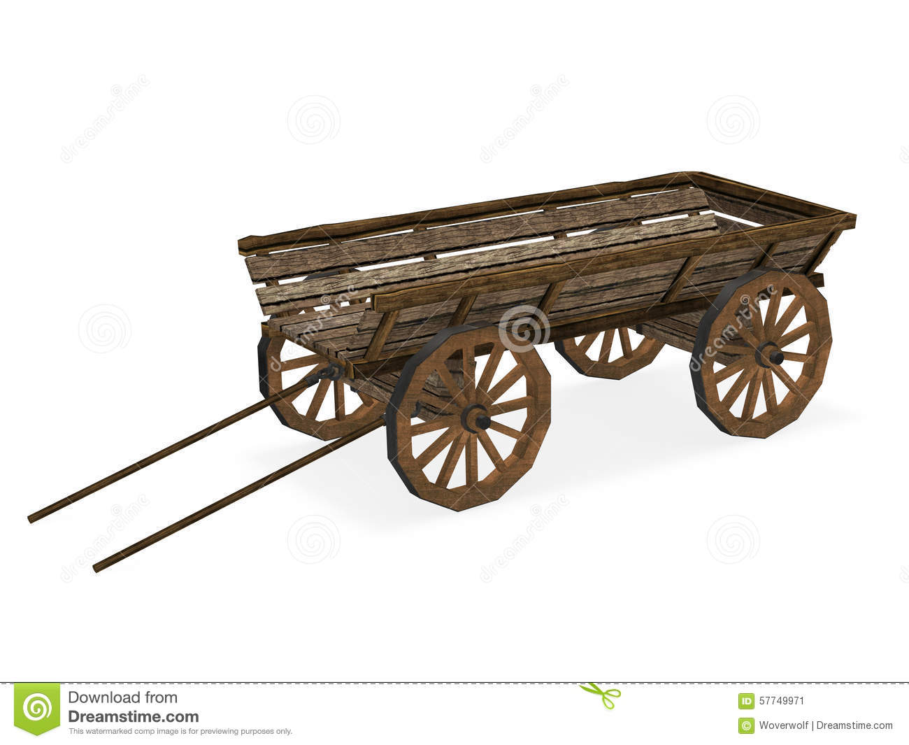 Old Cart Stock Illustration.