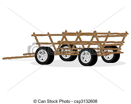 Vector of Old cart with new wheels.