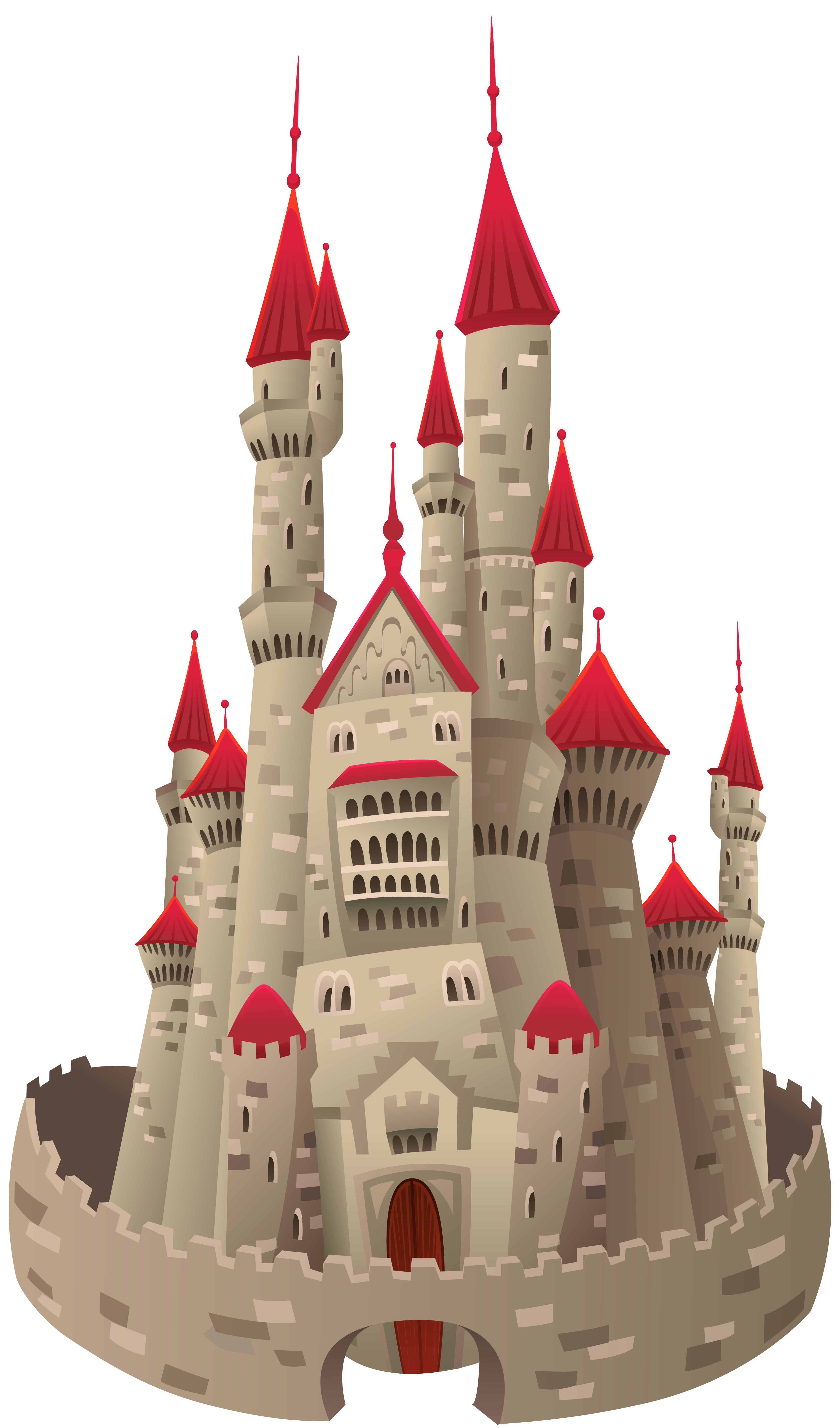 Old Castle PNG Clipart Image.