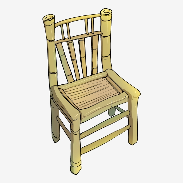 Back To Back Old Chair Illustration, Old Seat, Backrest.