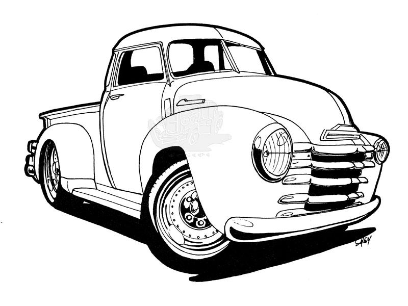 old chevy truck clipart