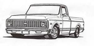 classic chevy truck clipart.