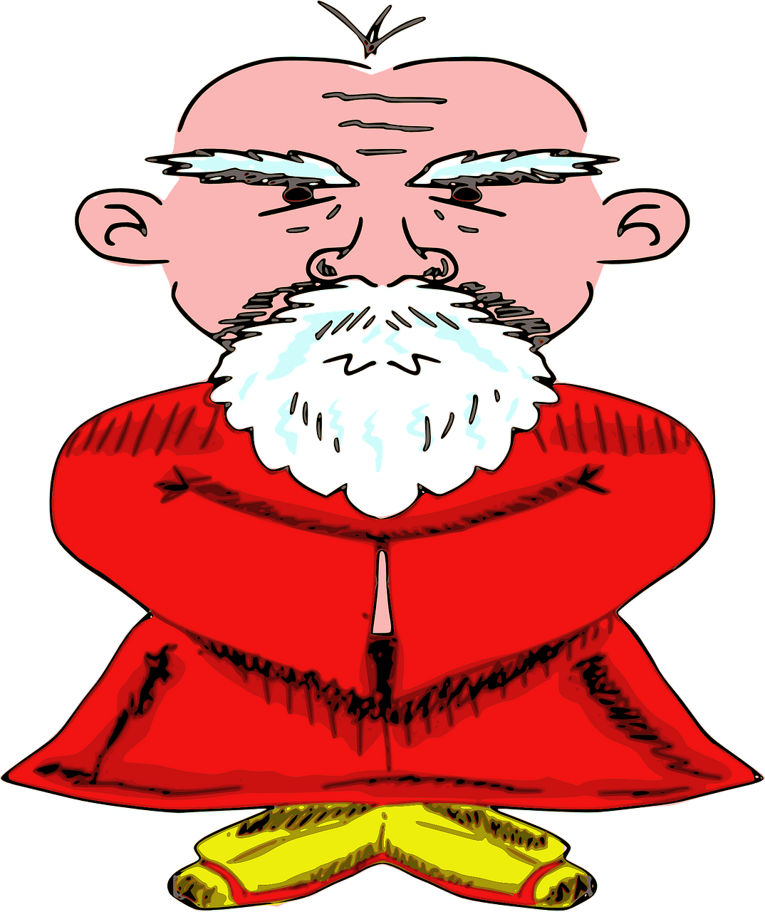 Old chinese man clipart. Free download..
