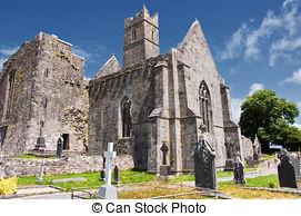 Picture of Rural Irish church ruins.