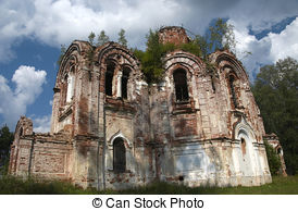Picture of Temple old church ruin 14th century.