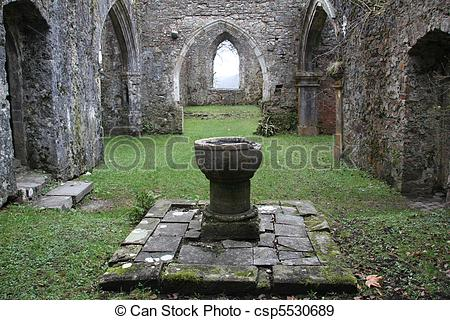 Stock Photographs of Ancient Church Ruin.