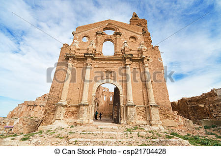 Stock Photo of Ruins of an old church destroyed during the spanish.