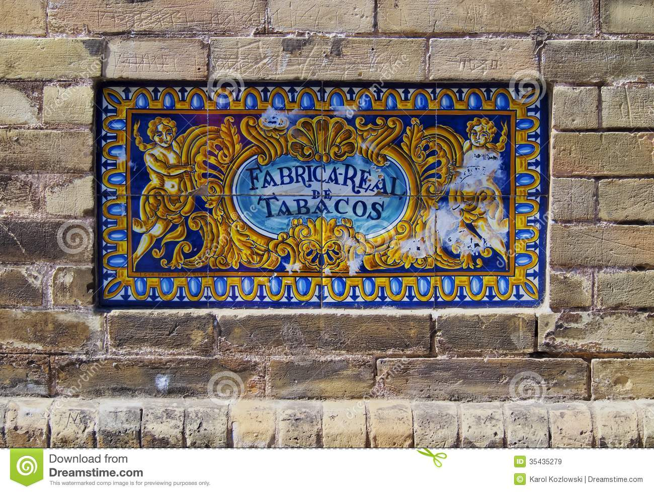 Royal Tobacco Factory In Seville, Spain Royalty Free Stock Images.