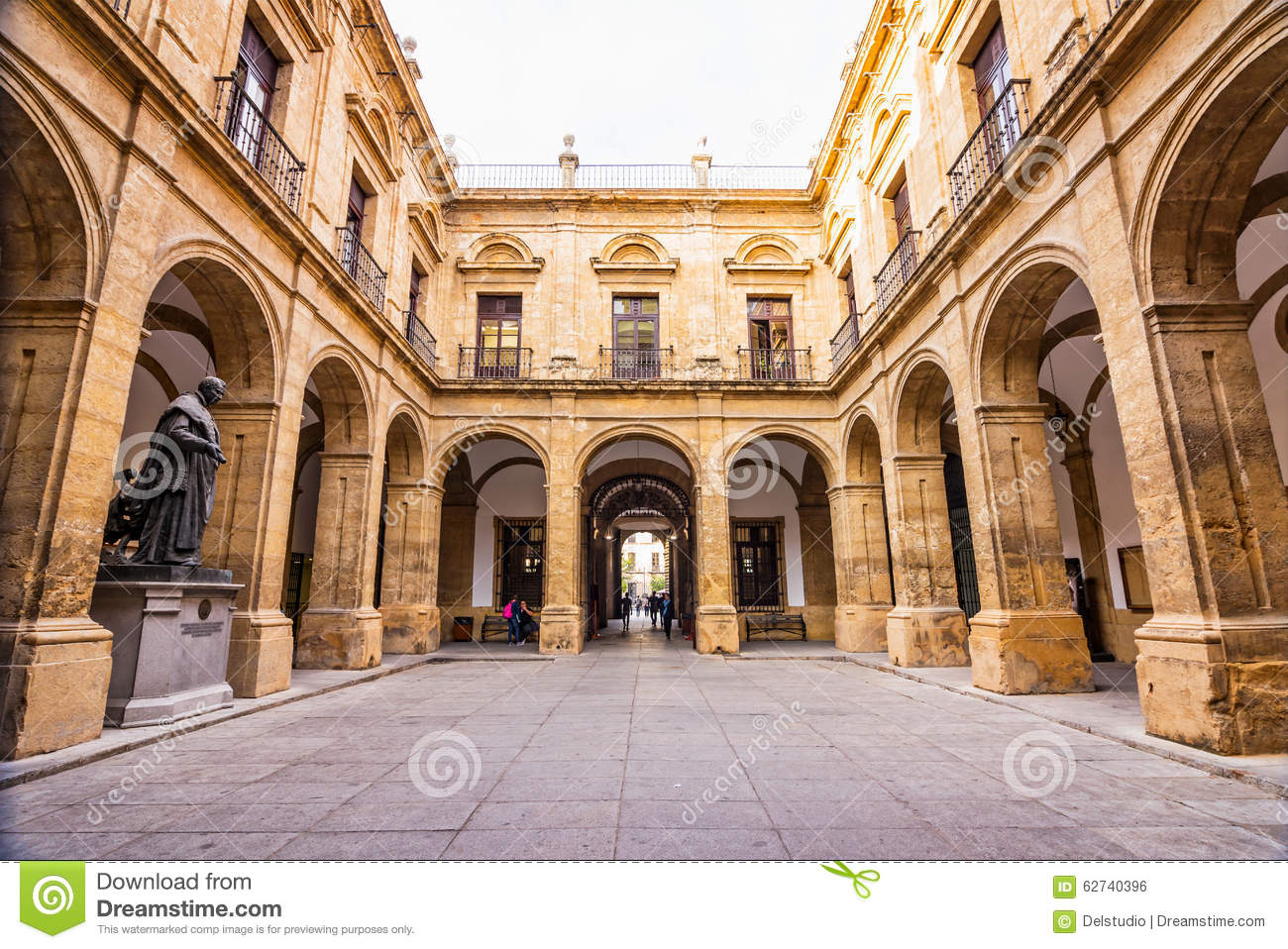 Old Royal Tobacco Factory In Seville, Spain Stock Photo.