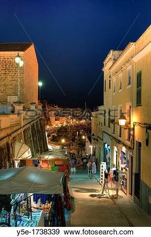 Stock Photograph of Spain, Balearic Islands, Menorca, Ciutadella.