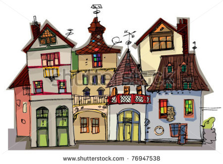 Old City Street Clipart.